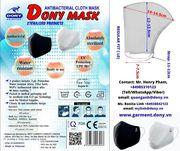 DONY MASK Premium Antibacterial Cloth Mask CE,  FDA,  TUV Reach Certific